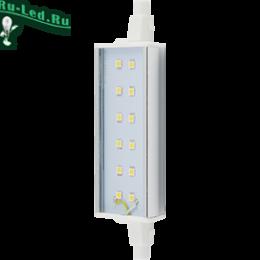 прожектор светодиодный замена лампы наполняют пространство вокруг уютом и теплом Ecola Projector LED Lamp Premium 12,0W F118 220V R7s 4200K (алюм. радиатор) 118x20x32