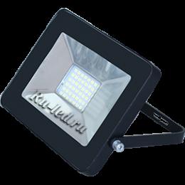 прожектор 30w Ecola Projector LED 30,0W 220V 4200K IP65 Светодиодный Прожектор тонкий Черный 188x132x17