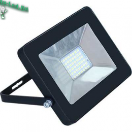 прожектор для подсветки зданий непроницаем для влаги, пыли и прочих частиц Ecola Projector LED 30,0W 220V 2800K IP65 Светодиодный Прожектор тонкий Черный 154x124x40