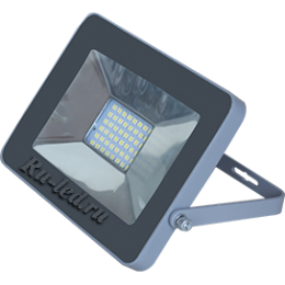 Прожектор светодиодный 20 Ecola Projector LED 20,0W 220V 6000K IP65 Светодиодный Прожектор тонкий Серебристо-серый 146x102x17