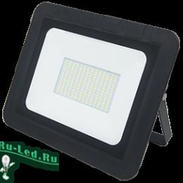 купить мощный прожектор защищающий от неблагоприятных атмосферных воздействий Ecola Projector LED 150,0W 220V 4200K IP65 Светодиодный Прожектор тонкий Черный 330x250x40