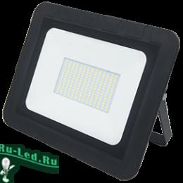 светодиодный прожектор 100вт smd ip65 идеален для подсветки фасада или ландшафта Ecola Projector LED 100,0W 220V 2800K IP65 Светодиодный Прожектор тонкий Черный 290x230x32