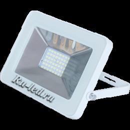 прожектор светодиодный белый Ecola Projector LED 20,0W 220V 4200K IP65 Светодиодный Прожектор тонкий Белый 146x102x17