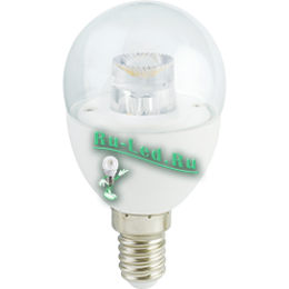 e14 led 2700k лампа отличается долгим сроком службы Ecola globe LED Premium 7,0W G45 220V E14 2700K прозрачный шар с линзой (композит) 80x45