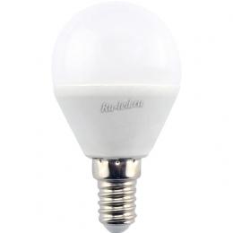 Светодиодная лампа е14 4000к хорошо впишется в интерьер помещения Ecola globe LED 8,0W G45 220V E14 4000K шар (композит) 78x45