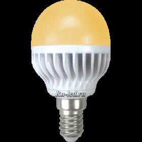 Светодиодные лампочки купить цена окажется доступной для большинства покупателей Ecola globe LED Premium 7,0W G45 220V E14 золотистый шар (ребристый алюм. радиатор) 81x45