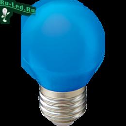Синяя лампа купить в Москве за высокий уровень безопасности и надежности Ecola globe LED color 5,0W G45 220V E27 Blue шар Синий матовая колба 77x45