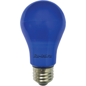 Синяя лампочка купить и создать нарядную и веселую атмосферу Ecola classic LED color 8,0W A55 220V E27 Blue Синяя 360° (композит) 108x55