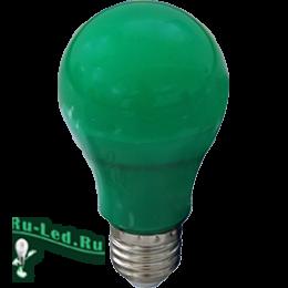 источник света светодиодные лампы качественные и безупречно красивые Ecola classic LED color 12,0W A60 220V E27 Green Зеленая 360° (композит) 110x60