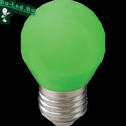 Светодиодные лампы матовые е27 в помещении будет смотреться очень эффектно Ecola globe LED color 5,0W G45 220V E27 Green шар Зеленый матовая колба 77x45