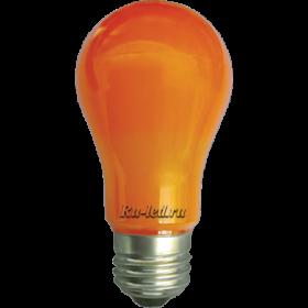 Купить лампочку оранжевую и подчеркнуть вашу индивидуальность и тонкий вкус Ecola classic LED color 8,0W A55 220V E27 Orange Оранжевая 360° (композит) 108x55