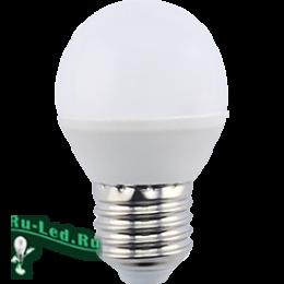 Светодиодные лампы е27 220v удивляет цена и безупречное качество Ecola globe LED 8,0W G45 220V E27 6000K шар (композит) 78x45