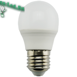 Ecola globe   LED Premium  9,0W G45  220V E27 4000K шар (композит) 82x45