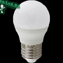 Ecola globe   LED Premium 10,0W G45  220V E27 4000K шар (композит) 82x45