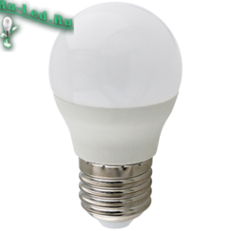 Ecola globe   LED Premium 10,0W G45  220V E27 6000K шар (композит) 82x45