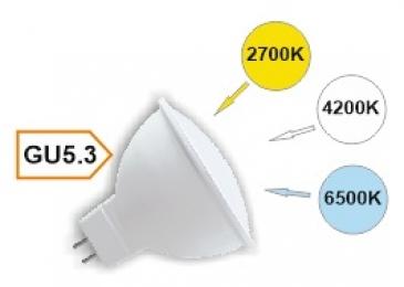 Ecola MR16   LED Premium  8,0W  220V GU5.3  с изменяемой цв.темп. (6500/4200/2700K) матовая 48x50