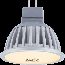 светодиодная лампа mr16 gu 5.3 220v премиум класса через интернет Ecola MR16 LED Premium 7,0W 220V GU5.3 золотистая матовое стекло (ребристый алюм. радиатор) 51x50