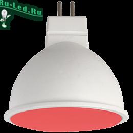 led лампа mr16 купить GU5.3 недорого по цене интернета в москве Ecola MR16 LED color 7,0W 220V GU5.3 Red Красный матовое стекло (композит) 47x50