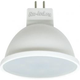лампа светодиодная 7Вт GU 5.3 Ecola MR16 LED Premium 7,0W 220V GU5.3 2800K матовое стекло (композит) 48x50