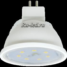 LED GU5 3  Ecola MR16 LED Premium 7,0W 220V GU5.3 4200K прозрачное стекло (композит) 48x50