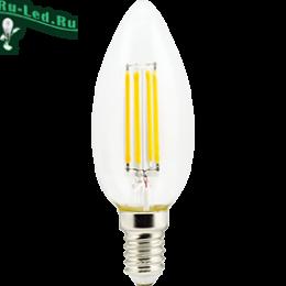 температура света светодиодных ламп и их мощность могут быть самыми различными. Ecola candle LED Premium 6,0W 220V E14 2700K 360° filament прозр. нитевидная свеча (Ra 80, 100 Lm/W, КП=0) 96х37