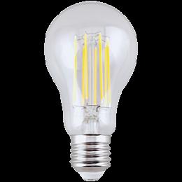 Ecola classic   LED Premium 13,0W A65 220-240V E27 4000K 360° filament прозр. нитевидная (Ra 80, 100 Lm/W, КП=0) 120x65