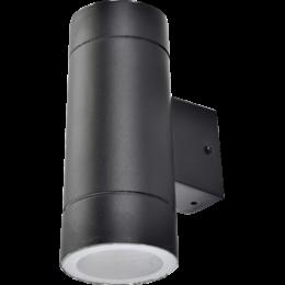 Ecola GX53 LED 8013A светильник накладной IP65 прозрачный Цилиндр легкий 2*GX53 Черный 205x140x90
