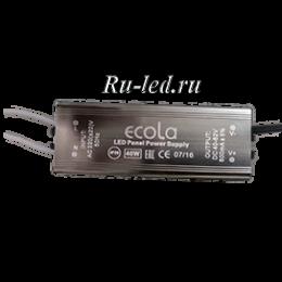 Ecola LED panel Power Supply  40W 220V драйвер для тонкой панели (только для отгрузки с панелями, PQ*N40ELC)