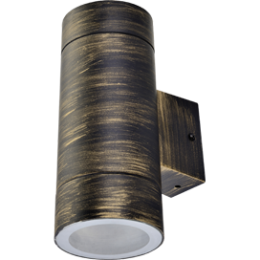 Ecola GX53 LED 8013A светильник накладной IP65 прозрачный Цилиндр легкий 2*GX53 Черненая бронза 205x140x90