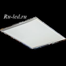 Панель светодиодная 40 ватт превращает освещение в совершенно безвредный для здоровья человека фактор Ecola LED panel тонкая панель без драйвера 40W 220V 6500K Матовая 595x595x9