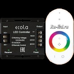 Ecola LED strip RGB RF controller 24A 288W 12V (576W 24V) с кольцевым сенсорным белым радиопультом
