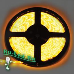 светодиодная лента в комнате представляет массу возможностей для дизайнерской фантазии Ecola LED strip 220V STD 4,8W/m IP68 12x7 60Led/m Yellow желтая лента 10м