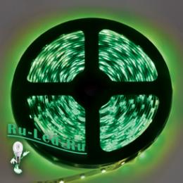 Светодиодная лента питание 220 станет удачным вариантом подсветки для домашнего интерьера Ecola LED strip 220V STD 4,8W/m IP68 12x7 60Led/m Green зеленая лента 20м