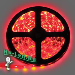 Лед подсветка потолка помогает преобразить дизайн интерьера Ecola LED strip 220V STD 4,8W/m IP68 12x7 60Led/m Red красная лента 20м