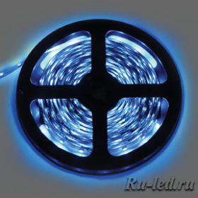 Ecola LED strip STD 14.4W/m 24V IP20 10mm 60Led/m Blue синяя светодиодная лента на катушке 5м.