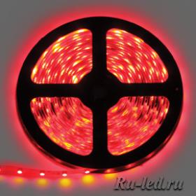 Ecola LED strip STD 14.4W/m 24V IP20 10mm 60Led/m Red красная светодиодная лента на катушке 5м.