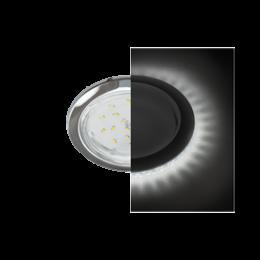 Ecola GX53 H4 LD5300 светильник встраив. без рефл. с подсветкой Хром 48x106 (к+)