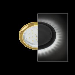 Ecola GX53 H4 LD5300 светильник встраив. без рефл. с подсветкой Золото 48x106 (к+)