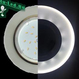 Ecola GX53 H4 LD5310 Glass Стекло Круг с подсветкой  хром - матовый 38x126 (к+)