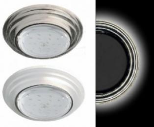Ecola GX53 H4 LD5314 Glass Стекло Круг со ступеньками с подсветкой  хром - хром (зеркальный) 38x120 (к+)