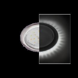 Ecola GX53 H4 LD5300 светильник встраив. без рефл. с подсветкой Сатин хром 48x106 (к+)