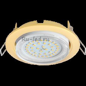 Точечные светильники Ecola gx53 h4 Ecola GX53 H4 светильник встраив. без рефл. Сатин золото 38x106 (к+)