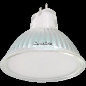 Светодиодные лампы mr16 220 Ecola Light MR16 LED 5,0W 220V GU5.3 2800K матовое стекло 48x50
