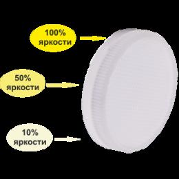 Ecola GX53   LED Premium  8,0W Tablet  220V 4200K диммирование 3-х ступ. (100%-50%-10% ) матовая 27x75