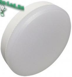 потолочные лампы таблетки GX53 купить недорого через интернет магазин в москве Ecola Light GX53 LED 8,0W Tablet 220V 6400K 27x75 матовое стекло 30000h (1 из ч/б уп. по 10)