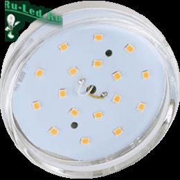 Лампа led gx53 купить для встраиваемых светильников недорого в москве Ecola GX53 LED Premium 8,5W Tablet 220V 4200K прозрачное стекло (композит) 27x75
