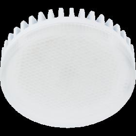 лампа gx53 2700k  дает возможность использовать ее в помещениях любого назначения Ecola GX53 LED 10,0W Tablet 220V 2800K матовое стекло (ребристый алюм. радиатор) 27x75