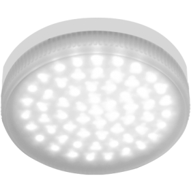 преимуществом gx53 led матовое стекло является несравненно более продолжительный эксплуатационный период Ecola Light GX53 LED 4,2W Tablet 220V 6400K 27x75 матовое стекло 30000h