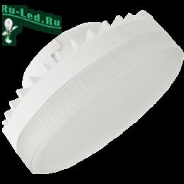 светодиодные лампы таблетки расходуют очень мало электроэнергии Ecola GX53 LED 10,0W Tablet 220V 6000K матовое стекло (композит) 27x75