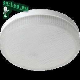 купить лампы ecola gx53, чтобы повысить работоспособность и внимательность Ecola GX53 LED 8,5W Tablet 220V 6000K матовое стекло (композит) 27x75
